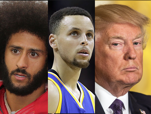 Lebron James and others drag Donald Trump for dissing Steph Curry and Colin Kaepernick